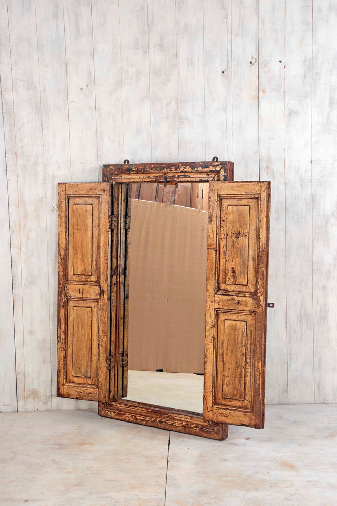 Wooden Window Mirror - Large No 166