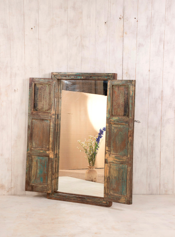 Wooden Window Mirror - Large No 17
