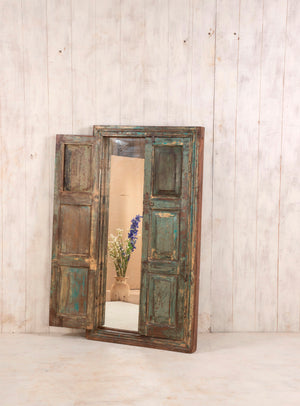Load image into Gallery viewer, Wooden Window Mirror - Large No 17