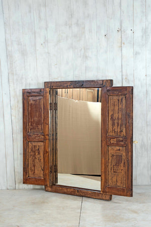 Wooden Window Mirror - Large No 185