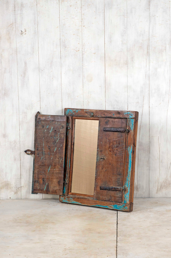 Load image into Gallery viewer, Wooden Window Mirror - Small No 219
