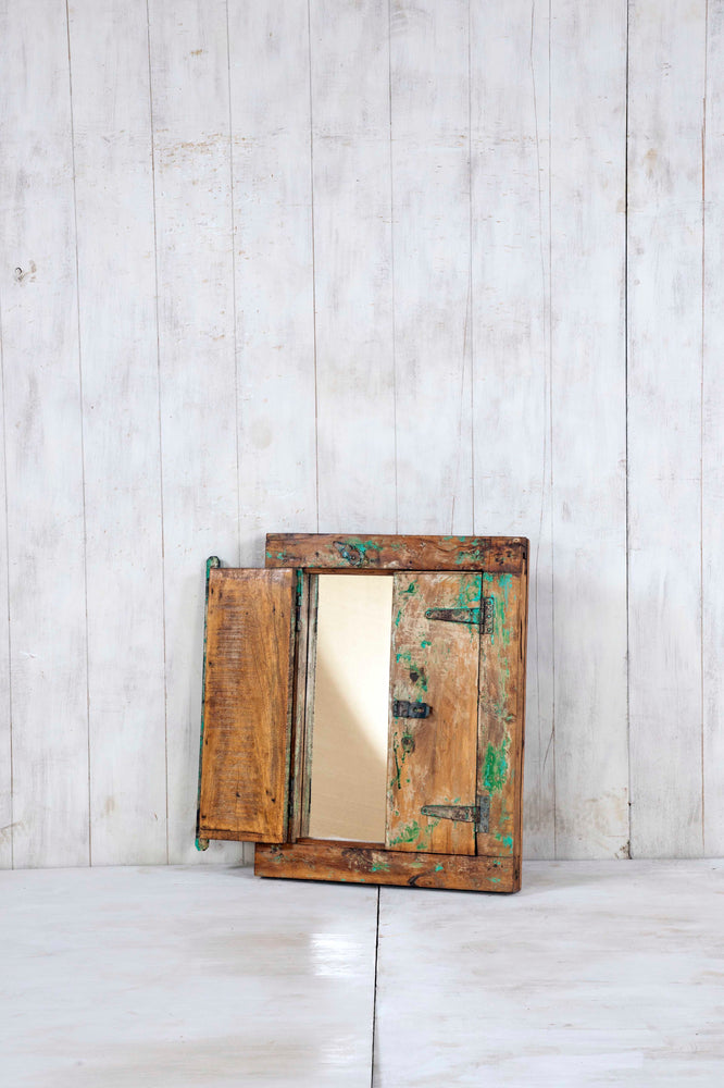 Load image into Gallery viewer, Wooden Window Mirror - Small No 254