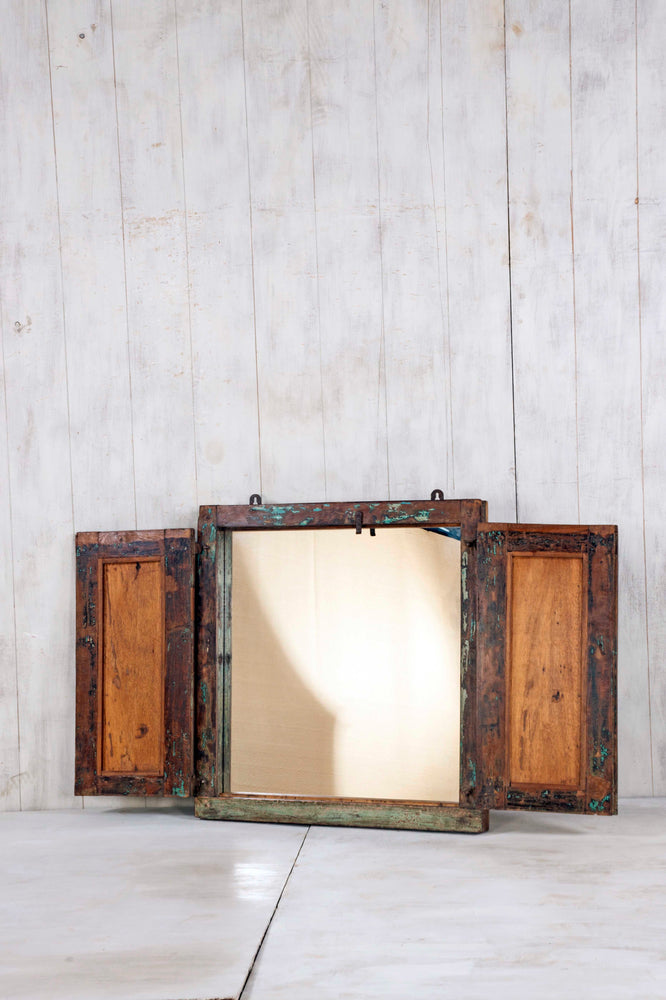 Load image into Gallery viewer, Wooden Window Mirror - Small No 265