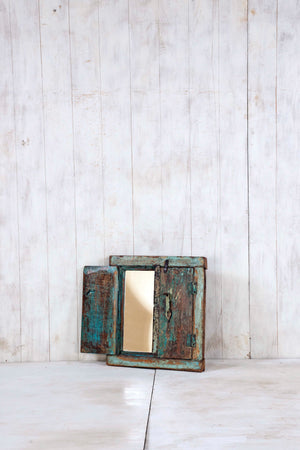 Load image into Gallery viewer, Wooden Window Mirror - Small No 292
