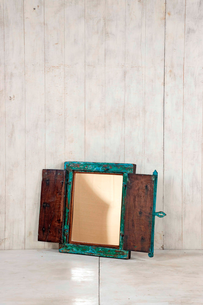 Load image into Gallery viewer, Wooden Window Mirror - Small No 317