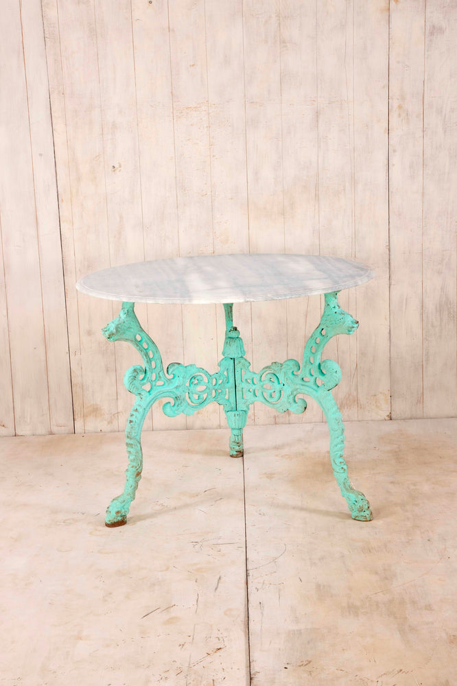 Iron Table with Marble Top - Large