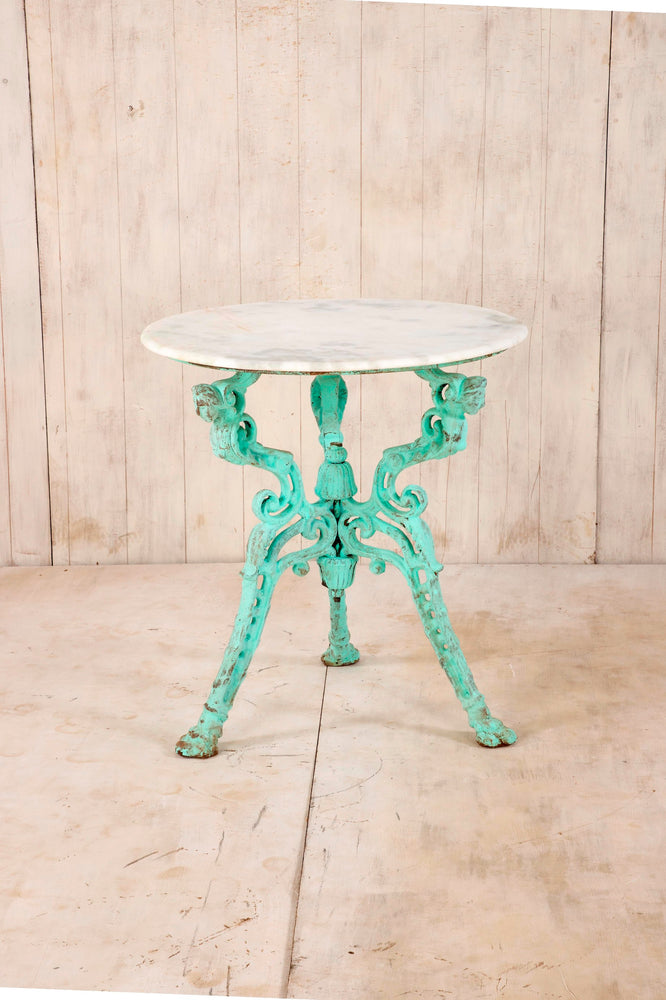 Iron Table with Marble Top - Small