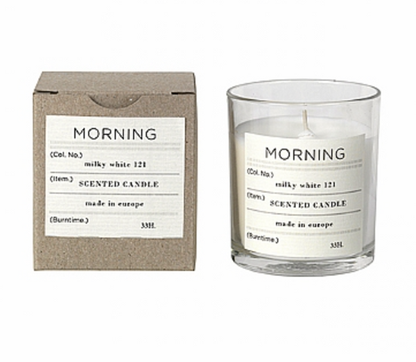 Broste Scented Candle Morning Soy Wax in Glass