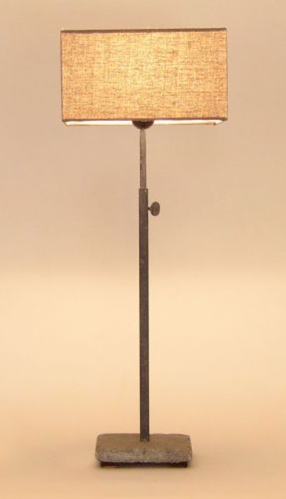 Hardstone Base Table Lamp - Frosted Black