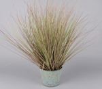 Artifical Grass in Zinc Bucket - Small