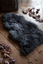 New Zealand Sheepskin 100cm - Steel