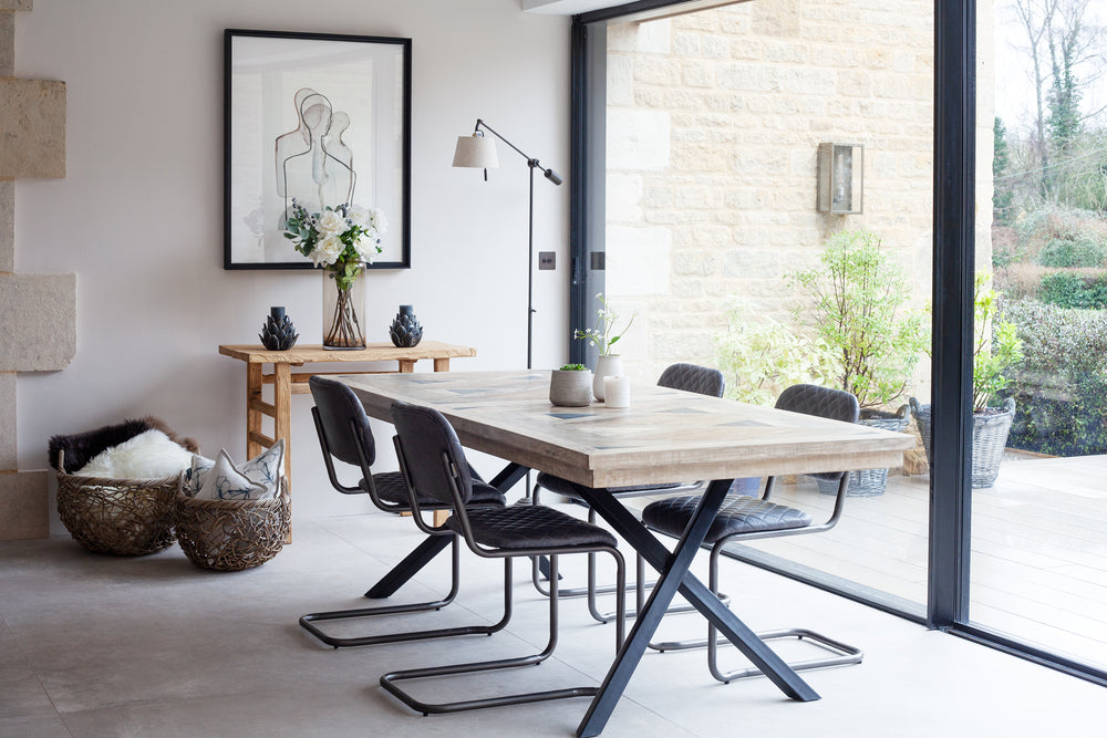 Sherbourne Panel Top Dining Table - 220cm