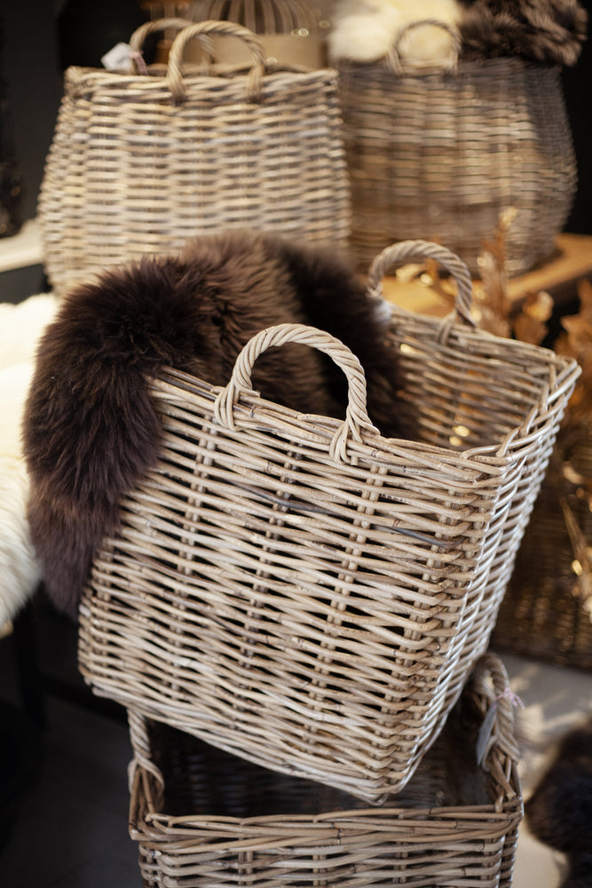 Square Log Basket - Large