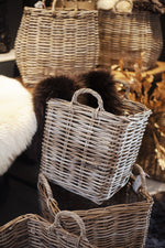 Square Log Basket - Small