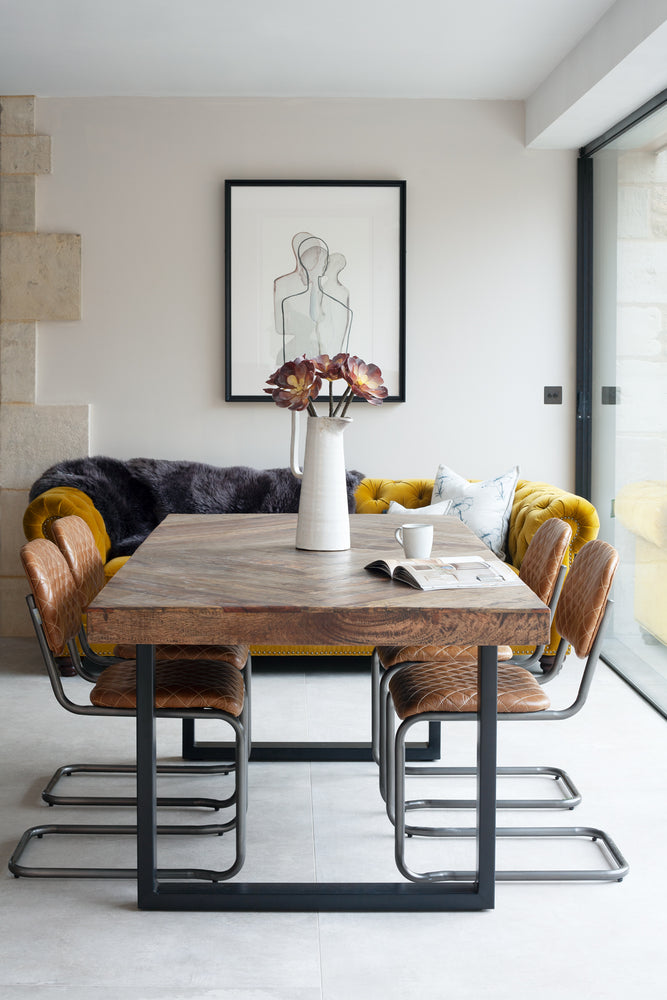 Load image into Gallery viewer, Greycock Diamond Top Dining Table - 200cm