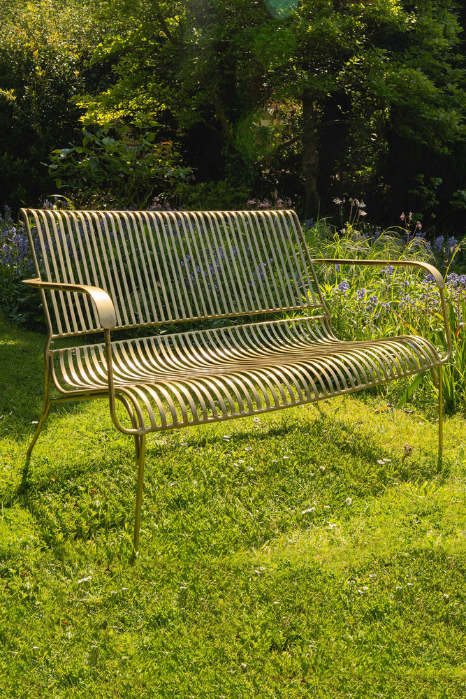 Iron Garden Bench - Brass
