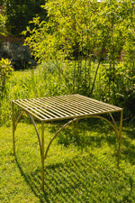 Iron Garden Table - Brass