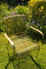Iron Garden Chair - Brass