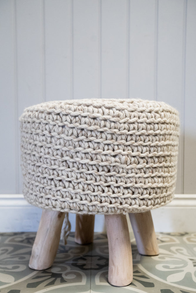 Nomad Knitted Stool
