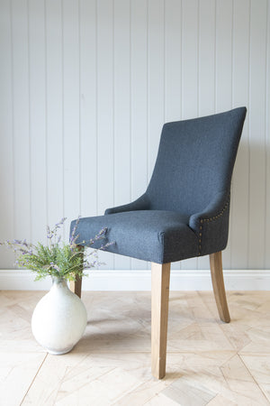 Load image into Gallery viewer, Charcoal Herringbone Chair