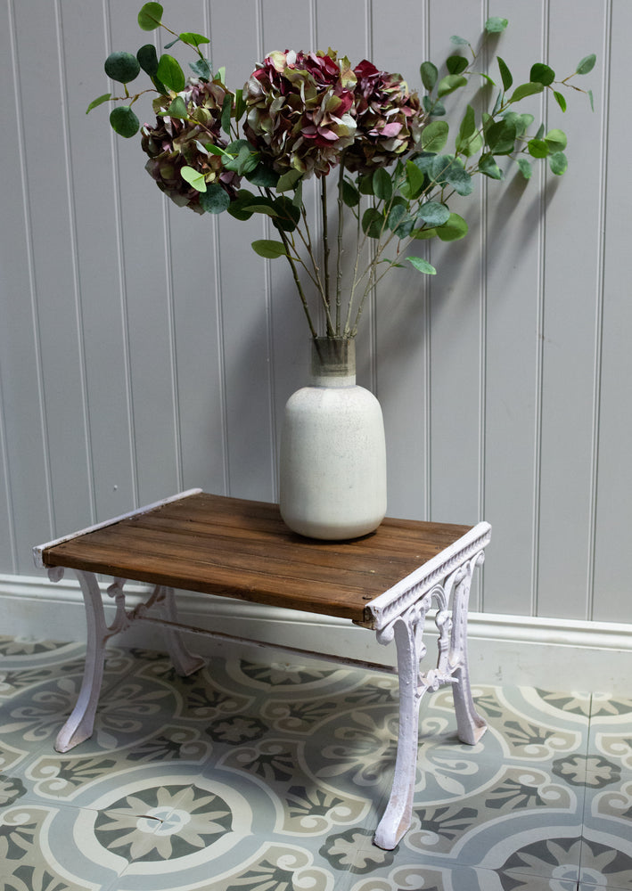 Cast Iron Wooden Stool/Table