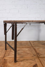 Wood and Iron Tent Table - 152cm