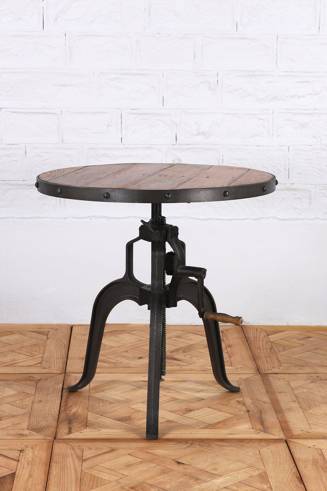 Iron and Wood Round Table - Small
