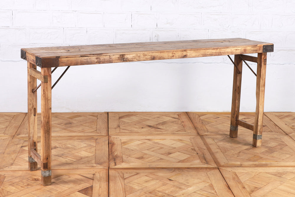 Rustic Folding Console Table - 174cm