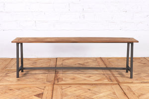 Wood and Iron Bench - 147cm