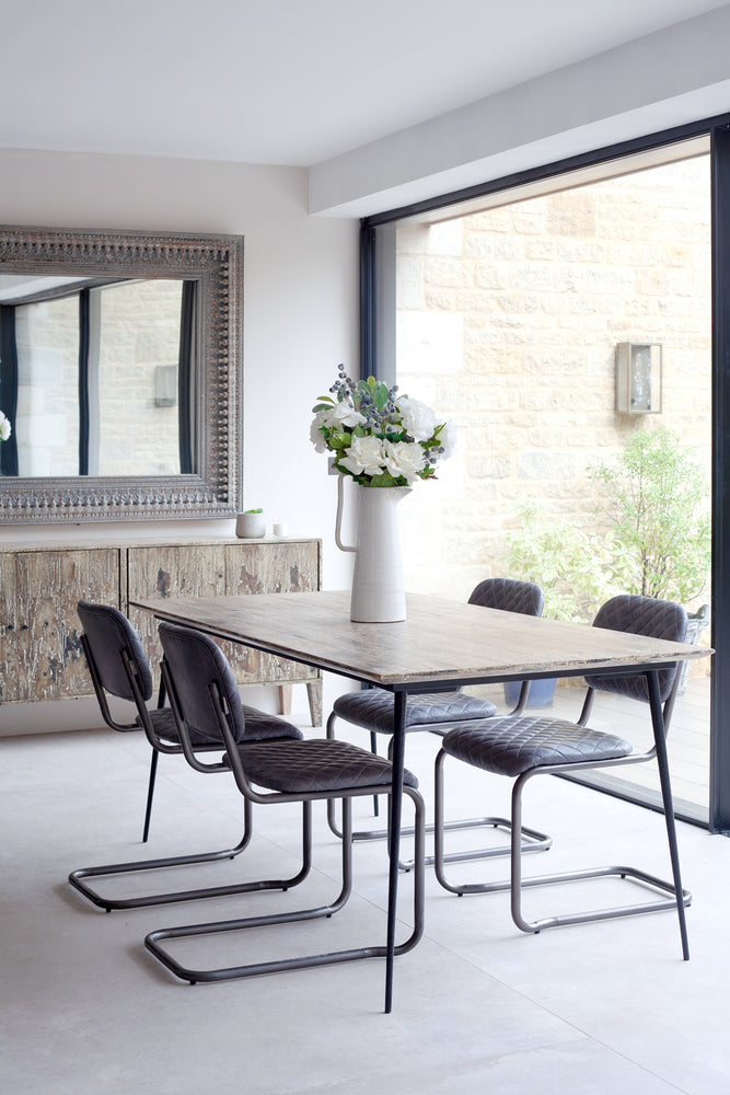 Windrush White Burn Dining Table - 180cm