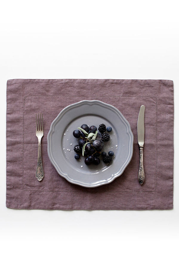 Linen Tales Ashes of Rose Vintage Placemat (35x45cm)