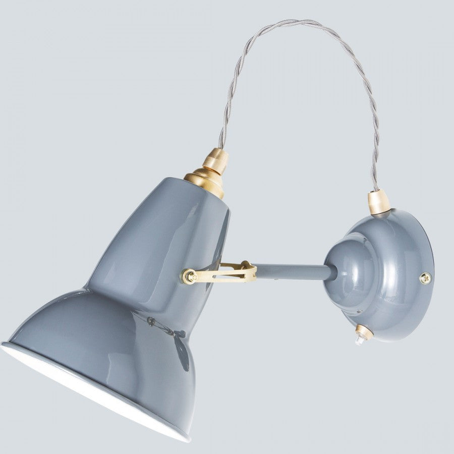 Elephant Grey Brass Wall Light