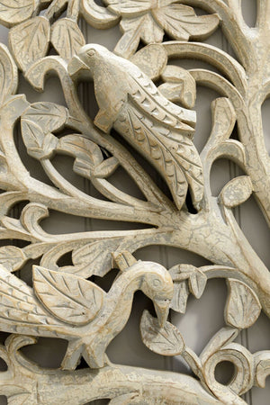 Another close up shot showing the intricate detail, and a carving of a bird