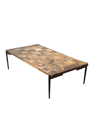 Easton Chequerboard Top Dining Table - 150cm