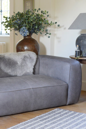 Load image into Gallery viewer, James Leather Sofa - Smoke
