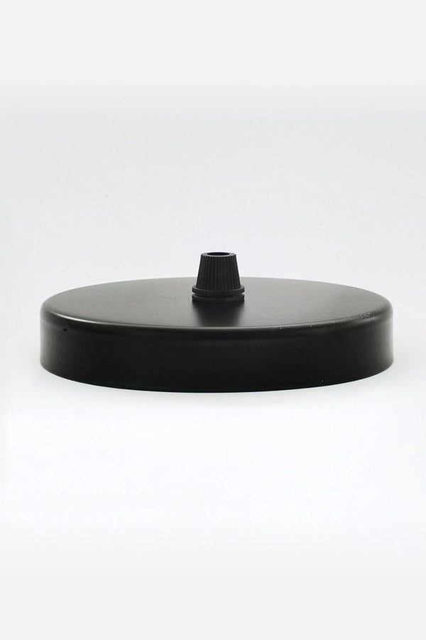 A studio shot of our Nostalgia black ceiling rose
