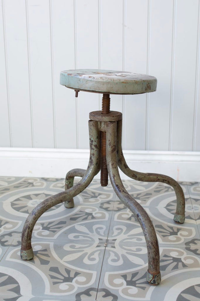 Agra Station Iron Stool