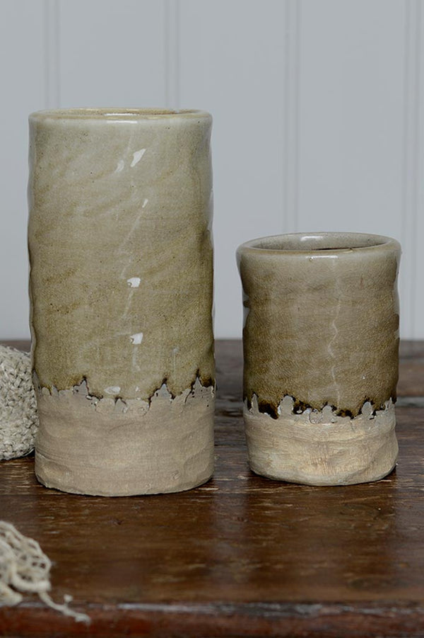 Pottery Dip Vase - Taupe