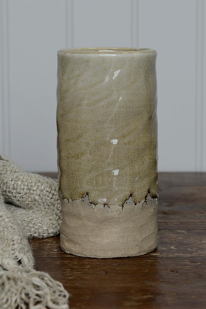 Load image into Gallery viewer, Pottery Dip Vase - Taupe