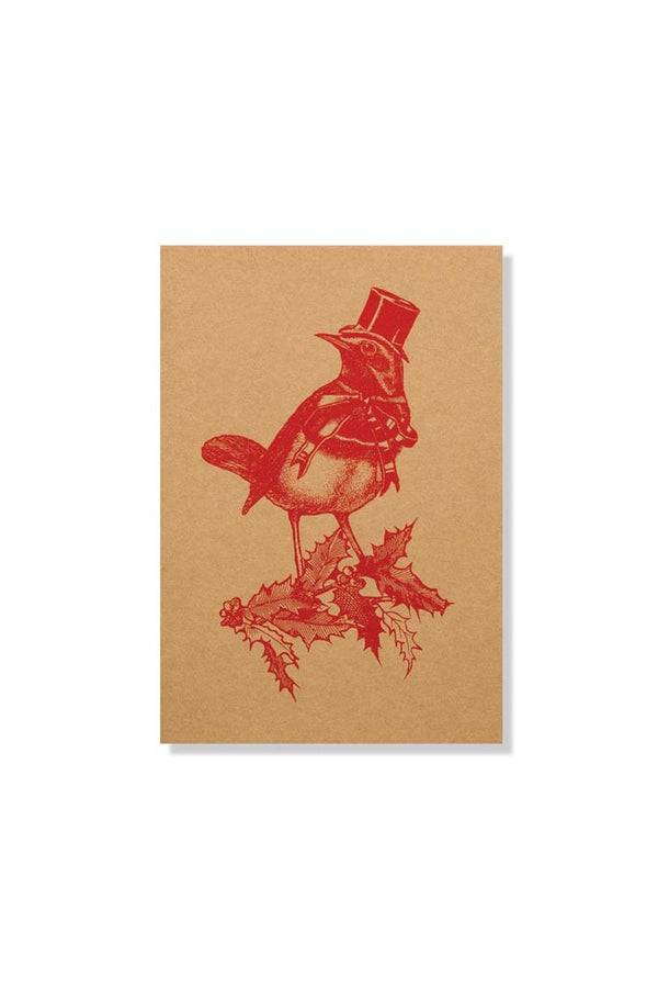 Chase & Wonder Red Robbin Christmas Card
