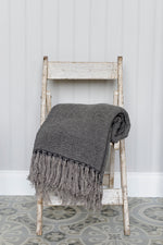 Kabuli Throw - Charcoal