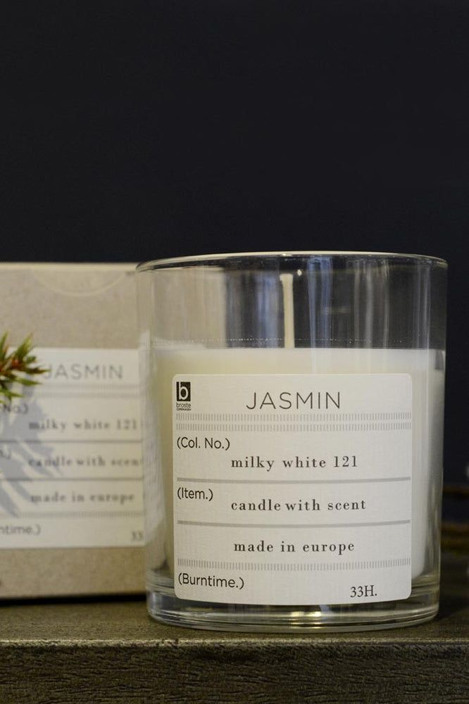 Broste Scented Candle Jasmin Soy Wax in Glass