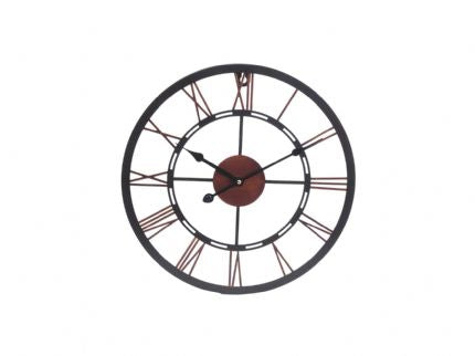 Iron and Copper Skeleton Wall Clock - Small