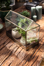 Sampara Terrarium - Aged Antique Brass - Wide