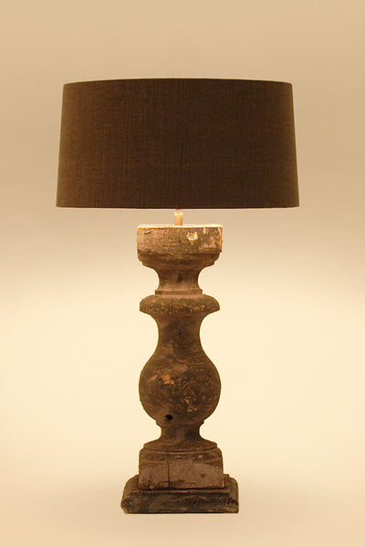Vigonza Wooden Table Lamp - Black Grey