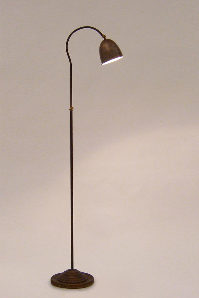 Studio shot of the tierlantijn garda adjustable lamp made of copper, iron and steel