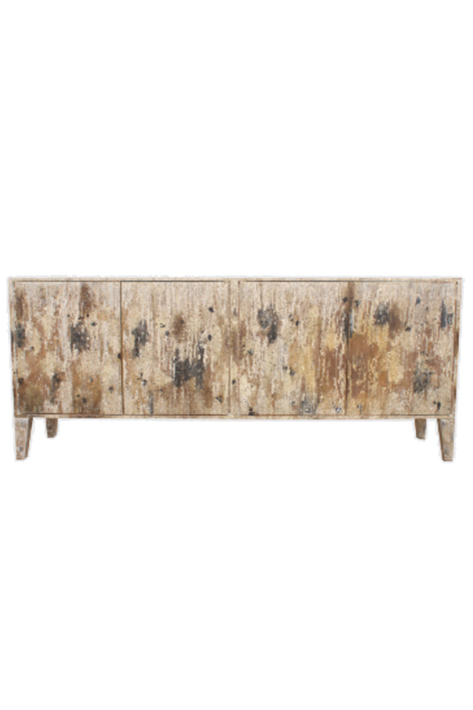 Load image into Gallery viewer, Windrush White Burn Sideboard - 180cm