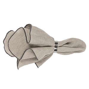 Napkin 'Gracie' Eco Friendly Linen Simply Taupe
