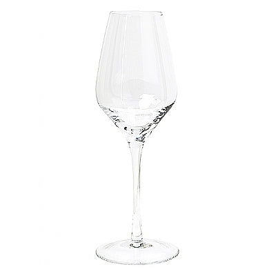 White Wine Glass 'Lines'