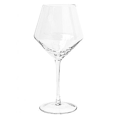 Broste Stripe Bourgogne Glass